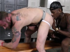 Bearded White Man Gets Assfucked By A Black Man