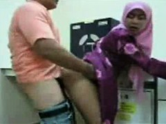 sweet arab teen banging her chef at the office