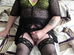 Fetish Wank Cum Stockings