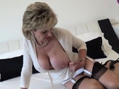 Adulterous British Mature Lady Sonia Reveals Her Monster Bre