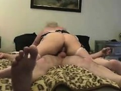 Bootylicious Blonde In White Stockings Takes A Hard Cock De