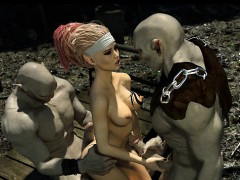 3D Busty Elf Destroyed by Evil Orcs!