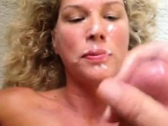 A Facial Cumshot Is Taken By Curly Blonde Milf