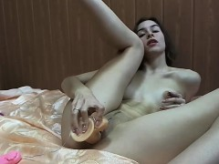 skinny-brunette-with-nice-titties-drills-her-snatch-with-a