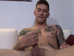 Matthew Jerks Off His Erection Until It Magnificently Erupts