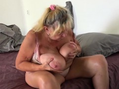 Redhead Scarlet Consumes Mature Pussy