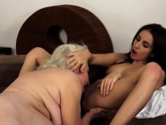 lesbian-babe-masturbating-with-mature