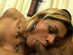 Ladyboy Girl Shakes Her Large Tits, While Getting Nailed