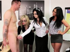 clothed-domina-blows-cock
