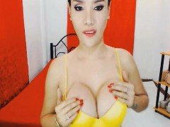 Busty Asian Tranny Masturbate On Cam