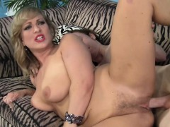 Insatiable blonde mom with big boobs Vicky Vixen fucks a young stud