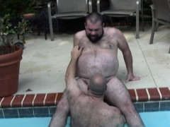 Mature Bear Cocksucking In Pool Outdoors