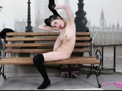flexible ariella shows incredible nude gymnastics Striptease
