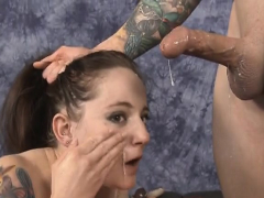 brunette-face-fucked-and-rubbed-in-spit-on-the-floor