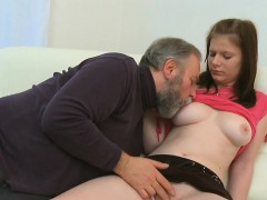 Horny Old Fucker Enjoys Sex With Young Honey