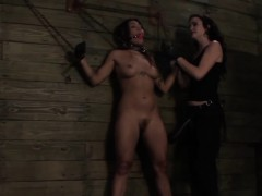 Ethnic Lesbian Sub Strapon Punished Harshly