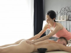 cute masseuse emma cums gets cunt rammed by her nasty client