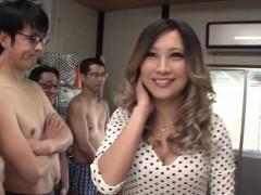Subtitled Japanese AV star and gyaru AIKA blowjob party