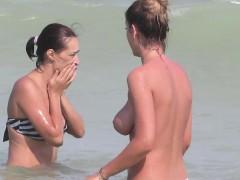 Topless Bikini Beach Horny Teens Voyeur Beach Video