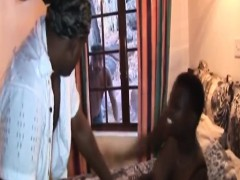 Rough Fucking And Spanking With African Slut In Threesome