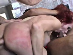 Rough Sex and DP for Mature Redhead