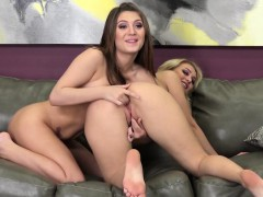Natalia And Jojo Give Us Some Hot Blonde On Brunette Action