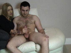 consider, that you sitting on a cock and she gets to orgasm so strong where you