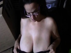Natural Tits Likes To P Lay With My Cock