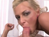 Insatiable blonde loves her some anal