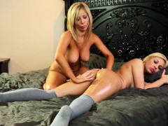 lesbian-milf-massaging-dykes-booty-with-oil