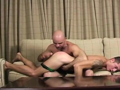 Hairy Jock Spanking And Facial
