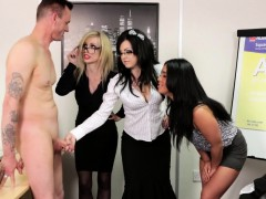 Cfnm Secretaries Sucking And Jerking Dick