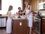 Alice March sucks cock under supervision of her hot mom
