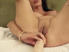 Mature anal dildo
