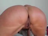 Oiled Up Milf Rides Her Dildo On Webcam