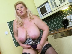 oldnanny-busty-mature-masturbation-in-the-kitchen