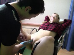 Trimmed Pussy Blonde Rides Cock Hardcore