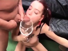 Flexi Cum Drinking Teen Banged