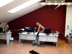 Hot Amateur European Blonde Striptease And Lapdance