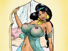 Aladdin and princess Jasmine orgy