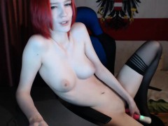 hogtied-redhead-hooked-pussy-toyed