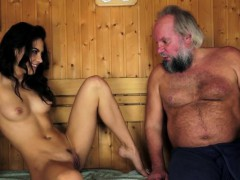 latina spunked by old guy