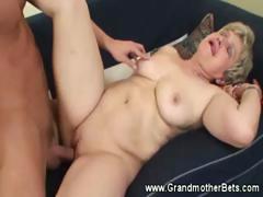 Cumming On Horny Granny