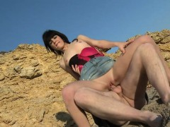 Amateur Teen Getting Pounded On The Beach