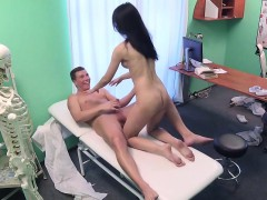 sexy patient nails doctor all over office