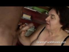 Ugly Fat Granny Sucking On Fresh Dick