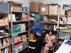 Teen Thief Busted And Fucked By A Security Guards Big Cock