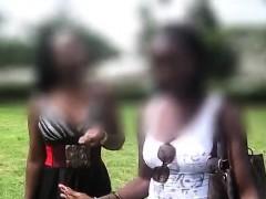 Amateur black African lesbians tonguing each others sweet