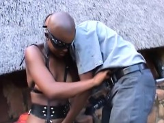 bald-african-in-leather-bound-and-fucked