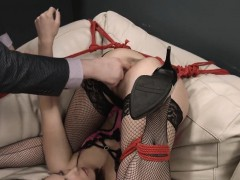 Wicked Teen Was Brought In Butthole Madhouse For Harsh Treat